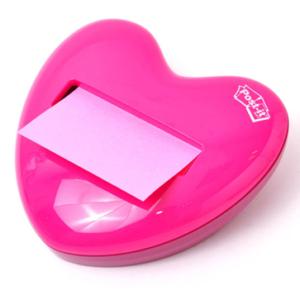 Dispensers Post-it® en forma de corazón - Precio: $350